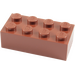 LEGO Reddish Brown Brick 2 x 4 (3001)