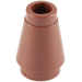 LEGO Reddish Brown Cone 1 x 1 with Top Groove (59900)