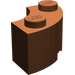 LEGO Reddish Brown Corner Brick 2 x 2 with Stud Notch and Reinforced Underside (85080)