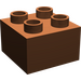 LEGO Reddish Brown Duplo Brick 2 x 2 (3437)