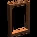 LEGO Rötlich-braun Frame 1 x 4 x 5 mit hohlen Bolzen (2493)