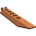 LEGO Reddish Brown Hinge Plate 1 x 8 with Angled Side Extensions (Round Plate Underneath)