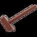 LEGO Reddish Brown Minifig Tool Pushbroom (3836)