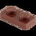 LEGO Brun rougeâtre assiette 1 x 2 (3023)