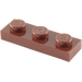 LEGO Reddish Brown Plate 1 x 3 (3623)