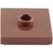 LEGO Reddish Brown Plate 2 x 2 with Groove and 1 Center Stud (87580)
