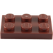 LEGO Reddish Brown Plate 2 x 3 (3021)