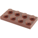 LEGO Reddish Brown Plate 2 x 4 (3020)