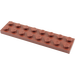 LEGO Reddish Brown Plate 2 x 8 (3034)