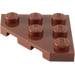 LEGO Reddish Brown Plate 3 x 3 without Corner (2450)