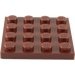 LEGO Reddish Brown Plate 4 x 4 (3031)