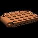 LEGO Reddish Brown Plate 4 x 5 Trap Door Curved Hinge