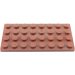 LEGO Reddish Brown Plate 4 x 8 (3035)