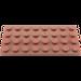 LEGO Brun rougeâtre assiette 4 x 8 (3035)
