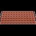 LEGO Reddish Brown Plate 6 x 12 (3028)