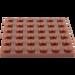 LEGO Reddish Brown Plate 6 x 6 (3958)