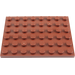 LEGO Reddish Brown Plate 6 x 8 (3036)