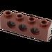 LEGO Reddish Brown Technic Brick 1 x 4 with Holes (3701)