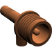 LEGO Reddish Brown Torch with Grooves