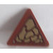 LEGO Reddish Brown Triangular Sign with Clip with Dark Tan Scales (Pattern 1) Sticker