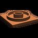 LEGO Reddish Brown Turntable 4 x 4 Base