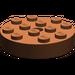 LEGO Reddish Brown Turntable 4 x 4 Top (Non-Locking)