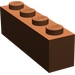 LEGO Reddish Brown Wedge 2 x 4 Sloped Left