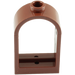 LEGO Reddish Brown Window 1 x 2 x 2.667 with Rounded Top (30044)