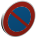 LEGO Roadsign Clip-on 2 x 2 Round with No Parking Decoration (30261)