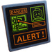 """LEGO Roadsign Clip-on 2 x 2 Square with Map, Head, """"DANGER"""" and """"ALERT!"""" Sticker with Open 'O' Clip (15210)"""