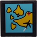 LEGO Roadsign Clip-on 2 x 2 Square with Map with a Plane Sticker with Open 'O' Clip (15210)