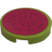 LEGO Round Tile 2 x 2 with Cut Watermelon Sticker (14769)