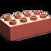 LEGO Salmon Duplo Brick 2 x 4