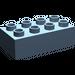 LEGO Sand Blue Duplo Brick 2 x 4 (3011)