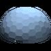 LEGO Sand Blue Hemisphere 4 x 4 Multifaceted (30208)
