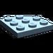 LEGO Sand Blue Plate 3 x 3 Corner Round (30357)