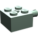 LEGO Sand Green Brick 2 x 2 with Pin and Axlehole