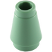 LEGO Sand Green Cone 1 x 1 with Top Groove (59900)