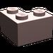 LEGO Sand Red Brick 2 x 2 Corner (2357)