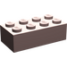 LEGO Sand Red Brick 2 x 4 (3001)