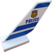"""LEGO Shuttle Tail 2 x 6 x 4 with Badge and """"POLICE"""" (on both sides) Sticker (6239)"""