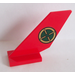 LEGO Shuttle Tail 2 x 6 x 4 with Gold and Dark Green Target Sticker (6239)