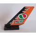 LEGO Shuttle Tail 2 x 6 x 4 with 'Jet Fuel' and Octan Logo Sticker (6239)