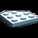 LEGO Sky Blue Plate 3 x 3 Corner Round (30357)