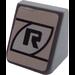 "LEGO Slope 1 x 1 (31°) with Black ""R"" Sticker (50746)"