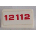 LEGO Slope 1 x 2 (31°) with '12112' Sticker (85984)