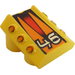 """LEGO Slope 1 x 2 x 2 with Flanges and Pistons with """"46"""" and Orange Stripes (30603)"""