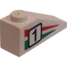 "LEGO Slope 1 x 3 (25°) with ""1"", Green/Red Stripes (Right) Sticker (4286)"