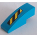 LEGO Slope 1 x 3 Curved with Black and Yellow Danger Stripes Cutout Pattern Right Sticker (50950)