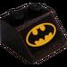 LEGO Slope 2 x 2 (45°) with Batman Logo Sticker (3039)